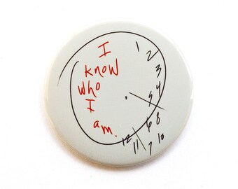 Hannibal Button - Hannibal Magnet - Will's Clock Button - Will Graham Button - I Know who I am button