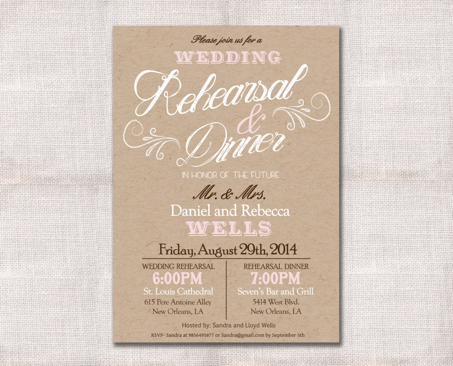 It's just a photo of Persnickety Printable Rehearsal Dinner Invitations