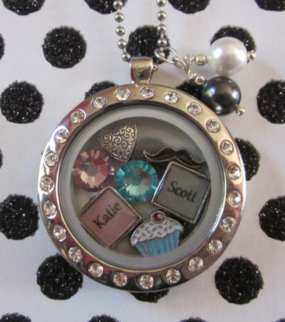 items similar to floating charm locket name charms with