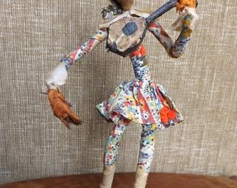 Unusal Handmade Troubadour Doll - Weighted Base - Belgium
