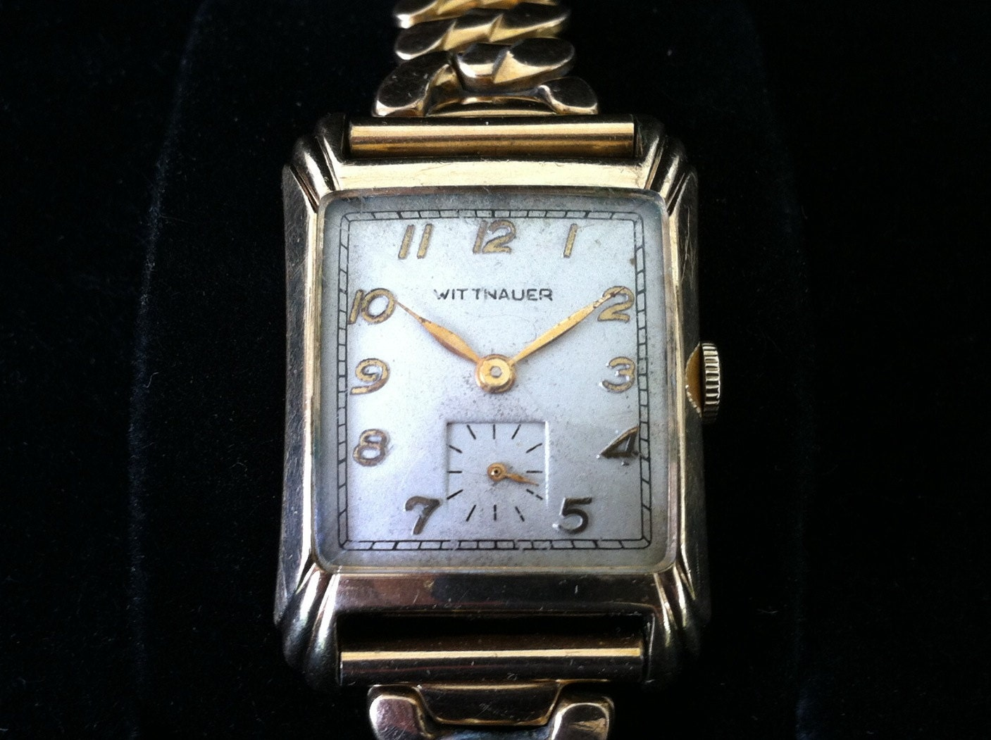 Vintage Mens Wrist Watch LONGINES Art Deco Silver