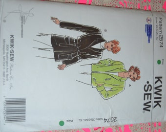 Kwik Sew 2574 Misses Jacket Sewing Pattern - Size XS S M L XL