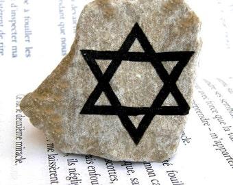 Magen David,Jerusalem stone,Star of David,Judaica, Israel stone,Stone of Israel, Israel gift ,mitzvah gift,bar mitzvah, personalized stone