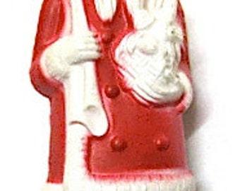 Vintage Irwin Santa Claus Celluloid Kris Kringle, 3 inches Tall, 1940