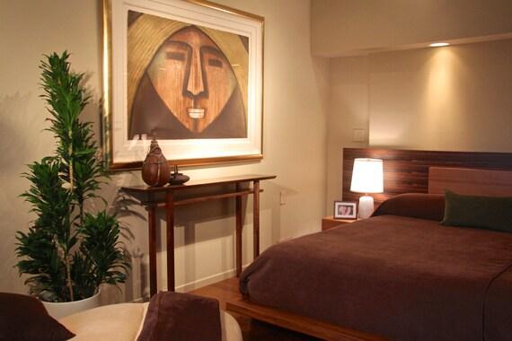 Handmade Wood Console- Vanity Table: Narrow Console Table, Hallway Table, Sofa Table- Mid Century Modern Bedroom Furniture