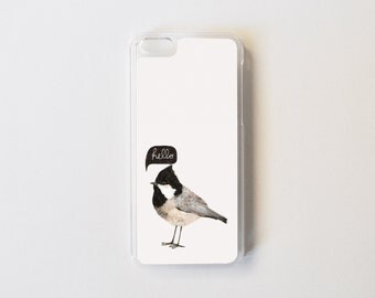 Bird iPhone 5c Case - Illustration iPhone 5c Case - Little Bird Hello iPhone 5c Case - Bird iPhone Case - Accessories for iPhone 5c