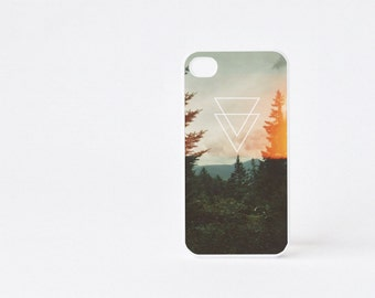 Burning Forest iPhone 4 Case - Geometric iPhone 4s Case - Forest Print iPhone 5 Case - Geometric iPhone Case - Accessories for iPhone 5s