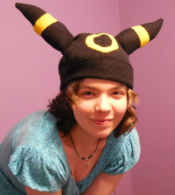 Pokemon Umbreon Inspired Fleece Cosplay Hat