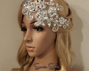 Bridal Hair Comb, Wedding Hair Comb, bridal Fascinator, Rhinestone Hair Comb, Bridal Head piece, Rhinestone Headpiece HB252