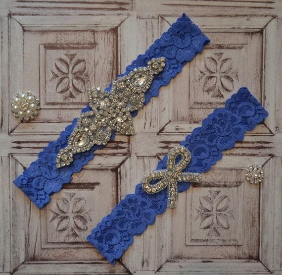 Items Similar To Wedding Garter Set, Elegant Rhinestone