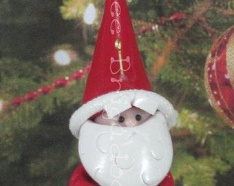 Wee Santa Claus Christmas Ornament OOAK Handmade