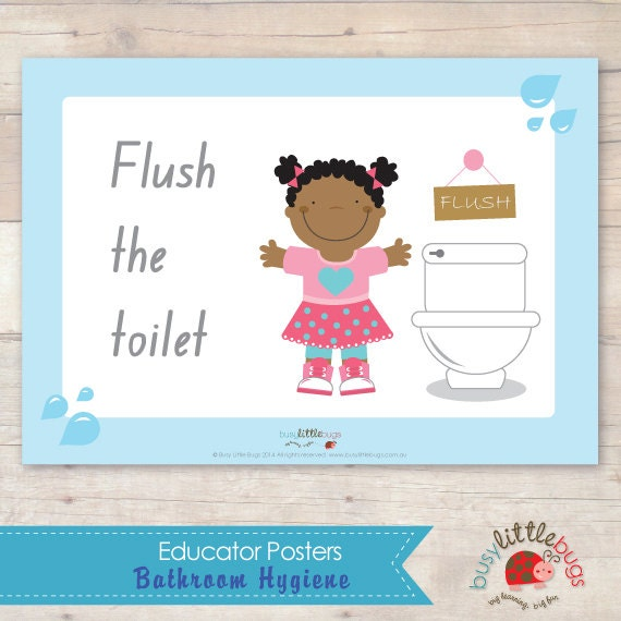 Bathroom Hygiene Signs AUTOMATIC DOWNLOAD By BUSYLITTLEBUGSshop