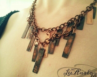 Recycled Copper Plumage Necklace
