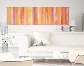 "Abstract Art, Acrylic Painting, Original Painting, Large Painting 55x16x1,5 FREE shipping, 55x16x1,5 M.Schöneberg ""Swing Morning"""