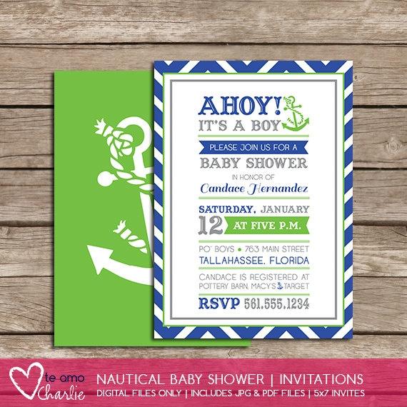 similar to ahoy it 39 s a boy nautical baby shower invitations on etsy