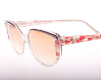 Essilor made in italy mosaique cello with mother of pearl effect high quality 70s nos