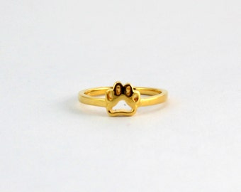 Pro Love - Pawprint Ring 18K Gold Plated 5-9