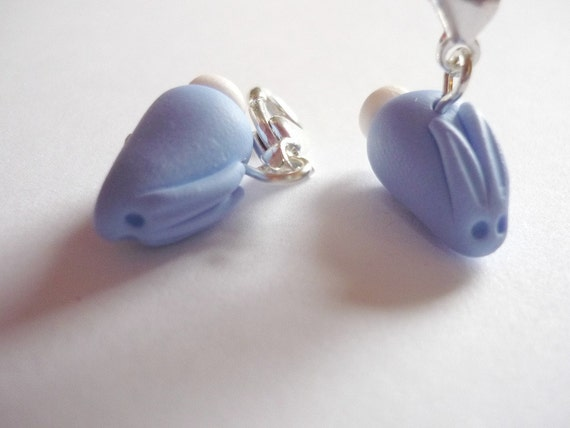 Crochet Stitch Markers Uk : Blue bunny rabbit crochet stitch markers, set of 2 - UK seller