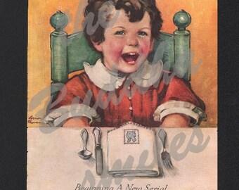Sale, Vintage Magazine Cover, Good Housekeeping, November 1935, artist Vernon Thomas , 00156