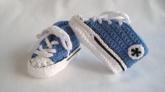 Converse Style/Chucks Baby Booties - Blue