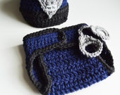 Police Hat Set, Newborn Photo Prop, Fits 0-3 month old, Made to Order