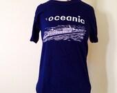Vintage 70s S/S Oceanic Boat Tee Size M