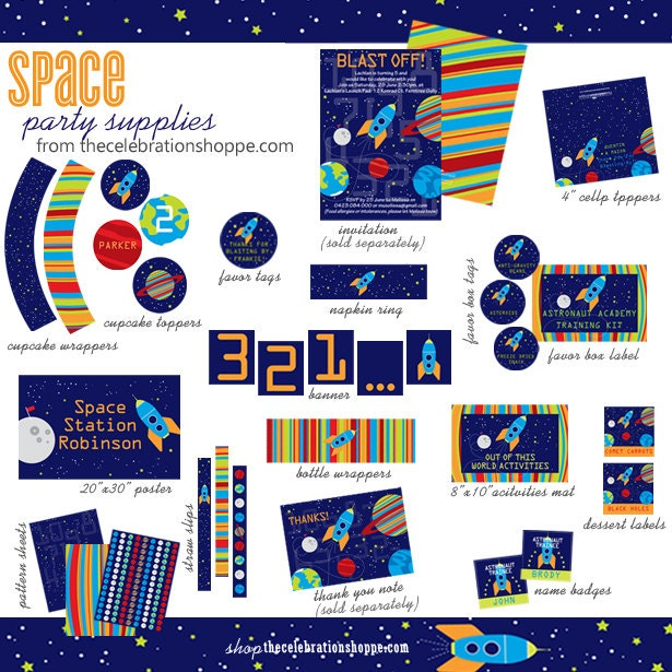 SPACE Birthday PARTY Supplies from The Celebration Shoppe