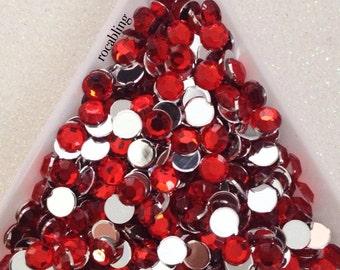 5mm red rhinestones - 500 or 1000 pieces - U.S. SELLER -  DIY, bling, flatback