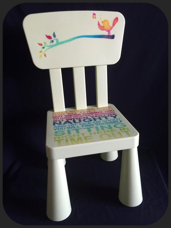 Items similar to kids will be kids timeout chairs hard for Kids chair with name