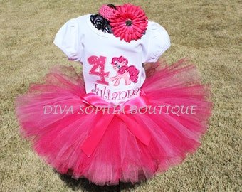 My Little Pony Tutu Set  - Pinky PieTutu Set -  Birthday Tutu  Set