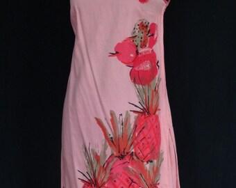 DRESS SALE 20% / 1960s Dress / Pink Pineapple MOD Abstract Op art Shift Scooter Dress / Vera / Vera Neumann