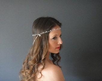 Bridal Headband, Crystal Headband, Bridal Halo, Bridal Forehead Band, Wedding Halo, Wedding Headband, Bridal Headpiece,  Crystal Headpiece,