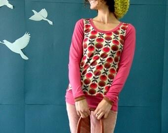 "Langarmoberteil ""ELLA"" in shades of raspberry"