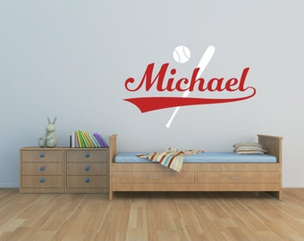 Baseball Wall Decal   Boys Name Wall Decal   Playroom Decor   Boys Wall  Decals Nursery