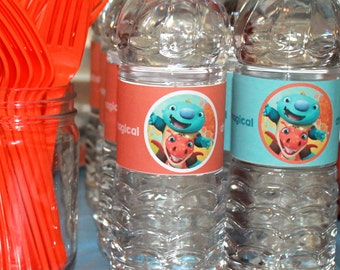 Water bottle Labels Wallykazam Instant Download-By Sweet Willow Designs
