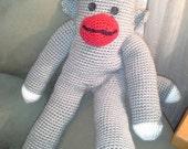 Crochet Sock Monkey - 18 inch Sock Monkey- Sock Monkey Doll - Amigurumi - Crochet Amigurumi Sock Monkey