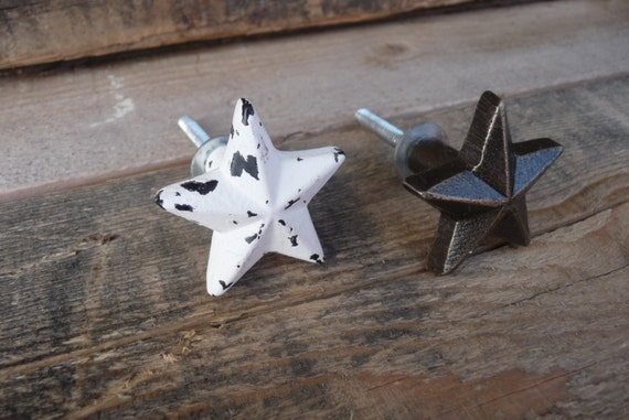 Rustic Distressed STAR Knobs