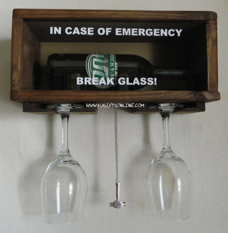 The wine connoisseur in case of emergency break by for Easy break glass bottles
