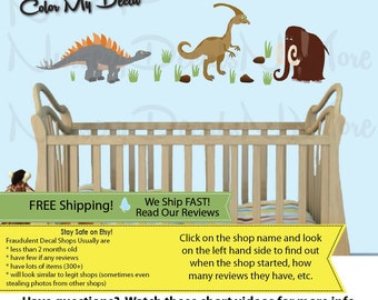 Dinosaur Wall Art For Kids, Dinosaur Wall Art, Mini Mammoth  (MINI_Stego76n59_Mm62_D3stock) DINO Part 24