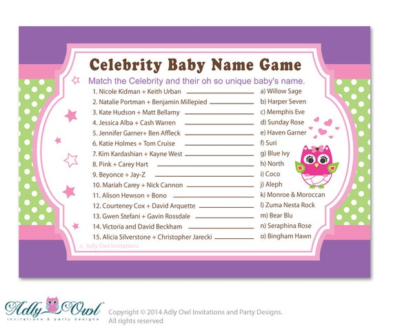 Quiz! Celebrity Baby Names - kidzworld.com
