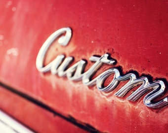 Vintage Auto, Red, Ford, Truck, Rustic, The Classic's Chrome