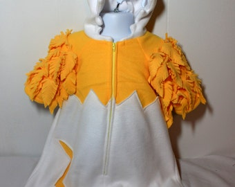 Chick in Egg Fleece  Bunting Costume