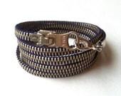 Cosmic Blue 5x Zipper Wrap Bracelet