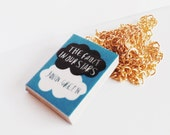 The Fault in our stars's  mini book necklace