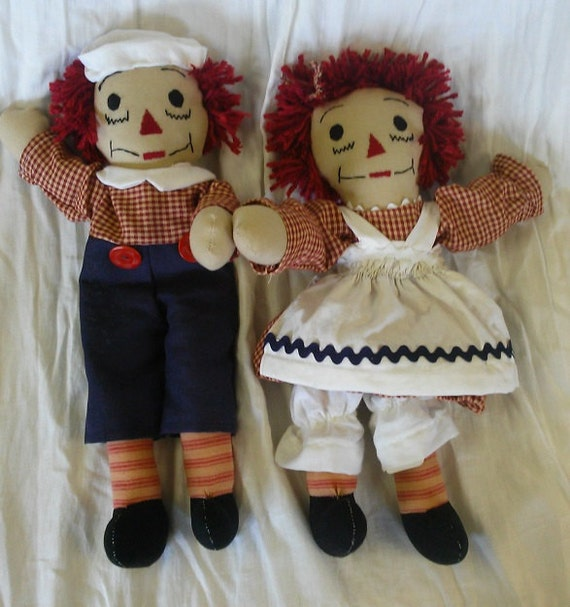 So Small Raggedy Ann Andy Pair 15 inches