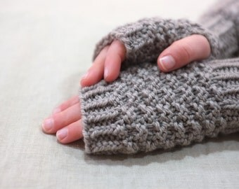 Fingerless gloves / girl women unisex toddler boy men / hand knitted wool koala / child tween teen / fingerless mittens