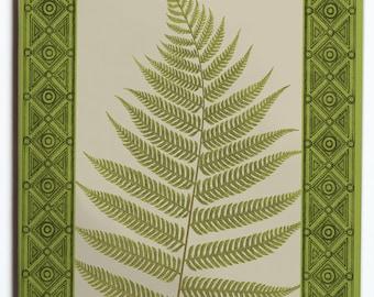 Green Fern Tile Trivet 6x6