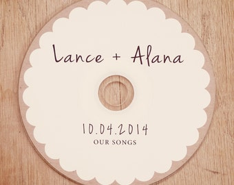 Custom Printed CDs - Artwork / Labels - wedding favors, client photography portfolios, Printed cd/dvd Labels