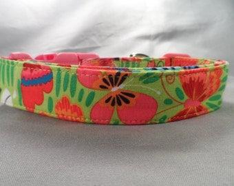 Colorful Butterflies Summer Dog Collar