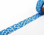 Blue Washi Tape with Water Droplet Pattern  - Raindrops Decorative Tape
